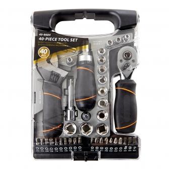 Grey Stubby Multi Tool Set 40pcs