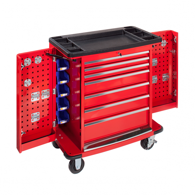Industrial Tool Trolley with Tool Board End Panels