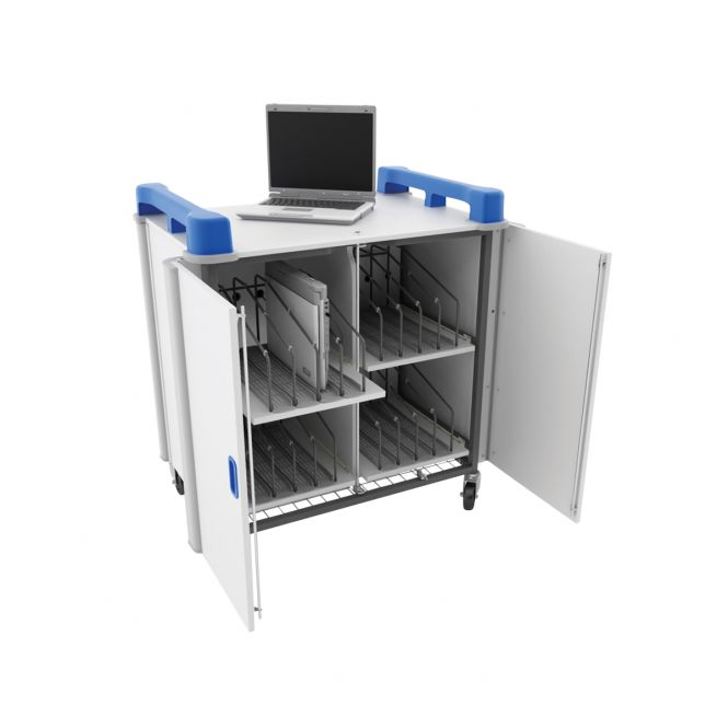 LapCabby Mobile Vertical Laptop Storage Cupboards With 16 Ports