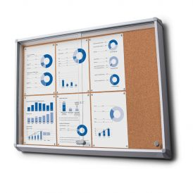 Large Lockable Cork Notice Boards