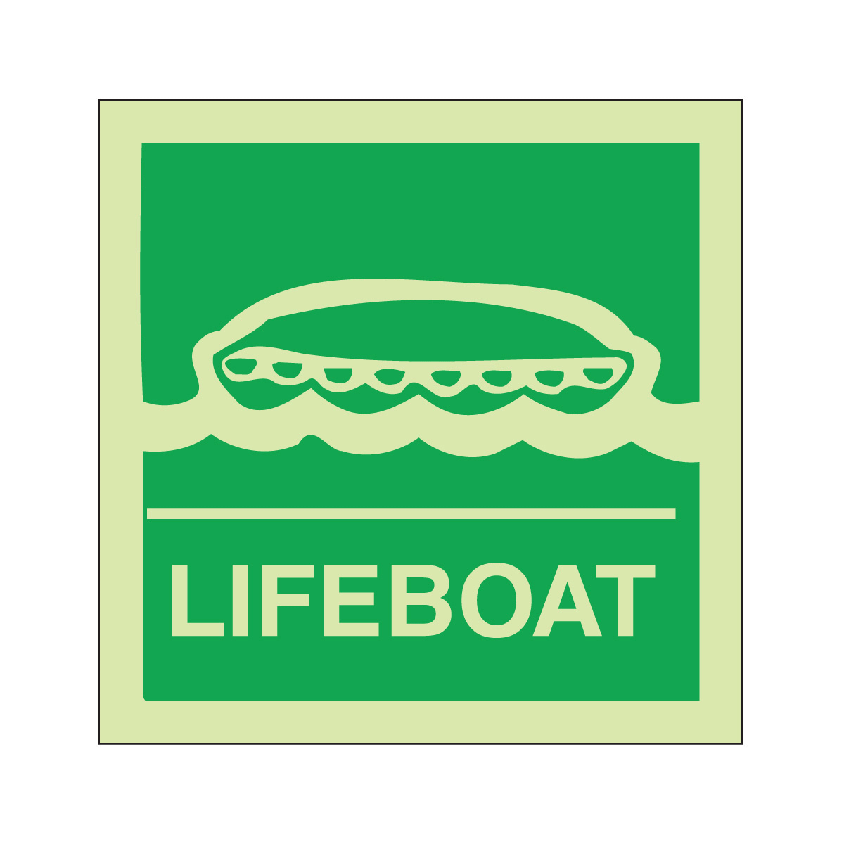 Lifeboat Safety Sign Photoluminescent Imo Sign From