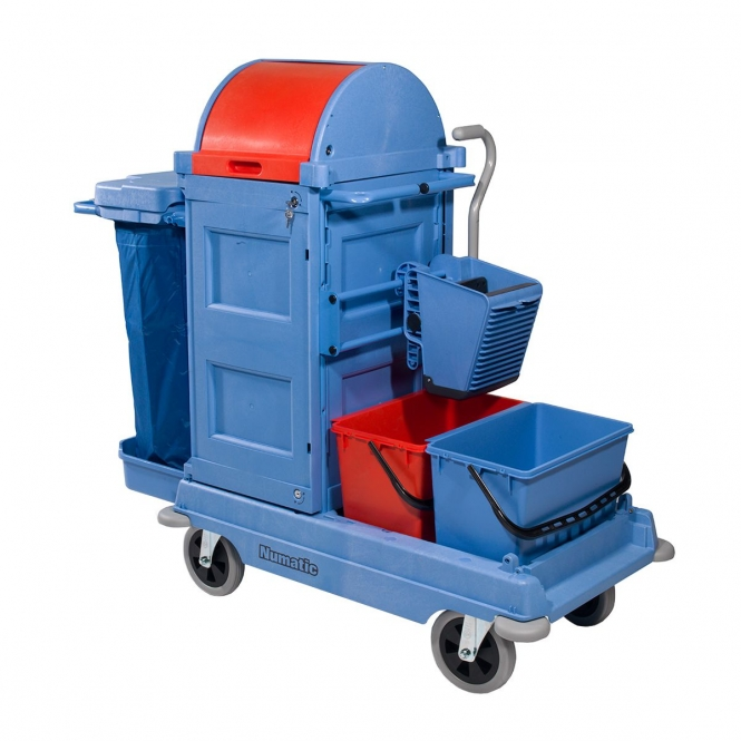 Lockable Janitorial Trolley