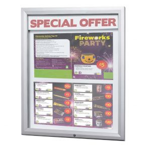 Lockable Outdoor Notice Boards With LED Displays