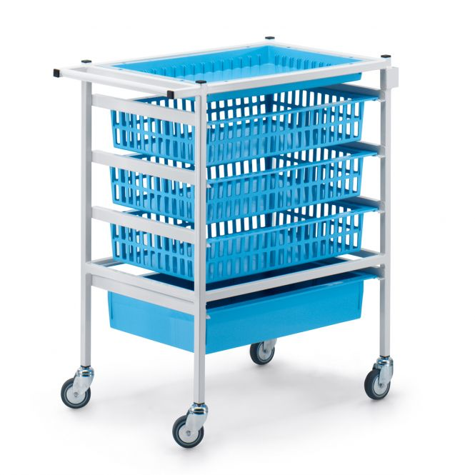 Medical Supplies Trolleys With Fixed Rails (HTM71 Trolleys)
