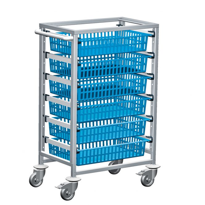 Medical Supplies Trolleys with Moveable Rails (HTM71 Trolleys)