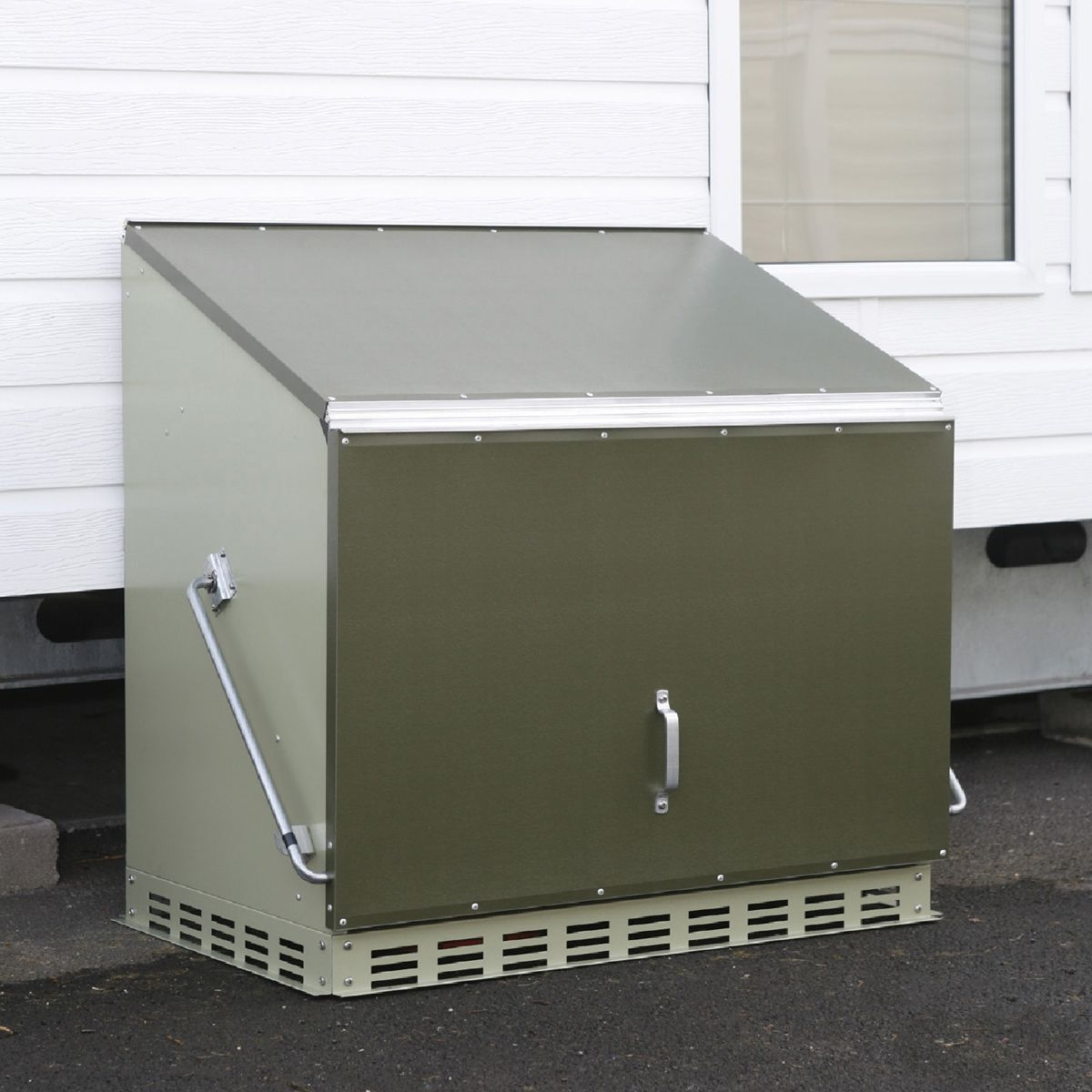 metal garden storage boxes external secure site storage from bigdug