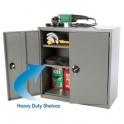 Metal Storage Cupboard With 2 Internal Shelves