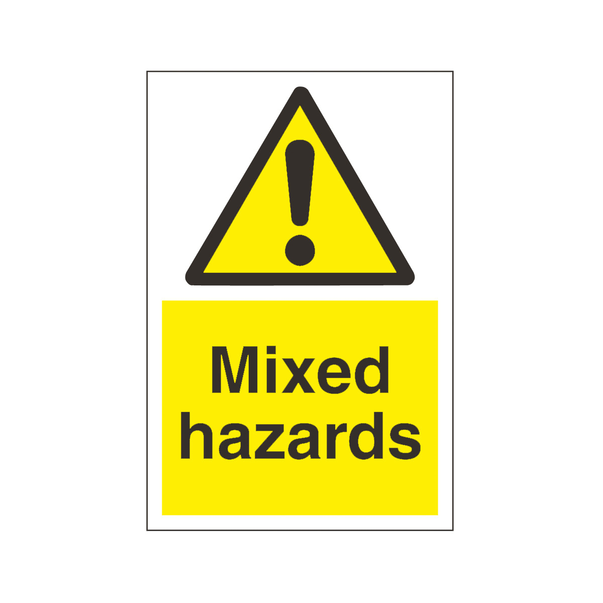 Mixed Hazards Safety Signs Hazard Amp Warning Sign From