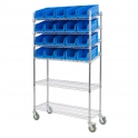 Mobile Chrome Slanted Bin Kits