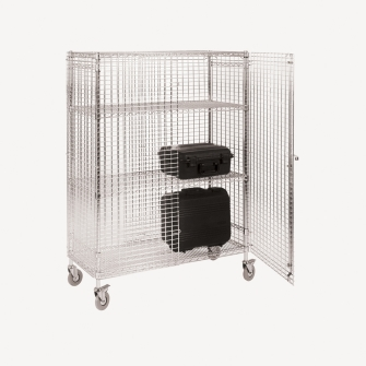 Mobile Security Cage Shelving