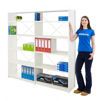 Office Shelving System Open Back