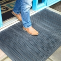 Outdoor Rubber Wave Scraper Entrance Mats