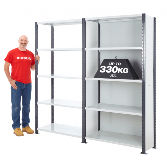 Painted Heavy Duty 2500mm High Shelving