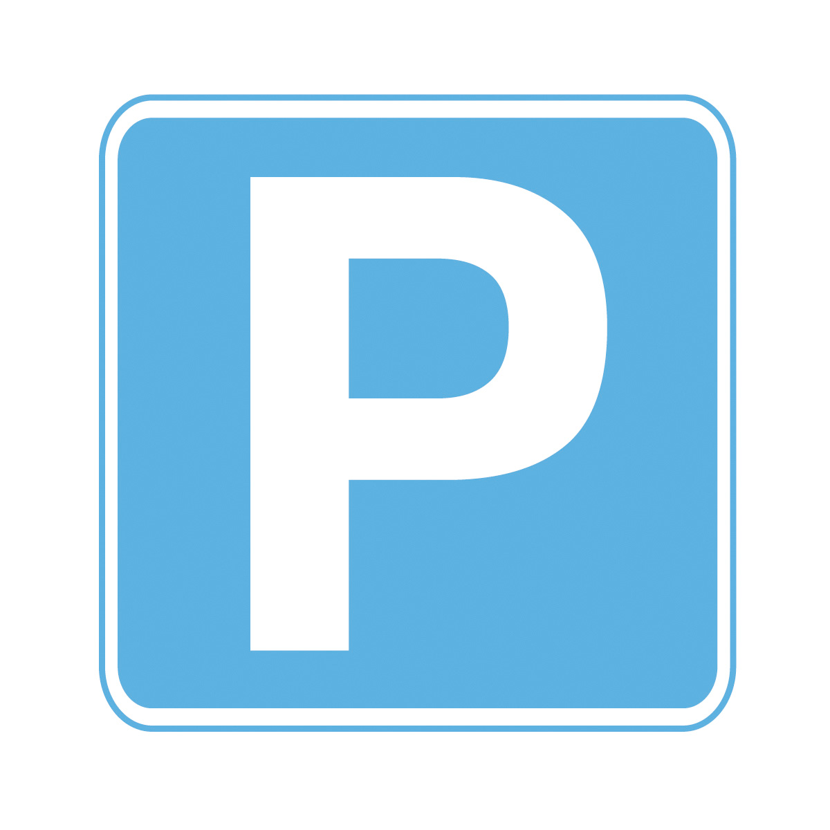 Parking Safety Sign P3117 on Entrance Floor Mats