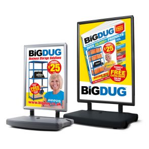 Pavement Display Boards With Weighted Bases