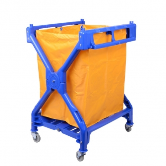 Plastic Folding Laundry Trolley