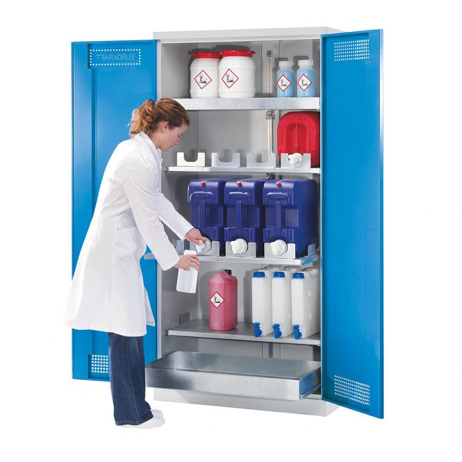 PremKraft Hazardous Substance Storage Cupboard with Container Drawers
