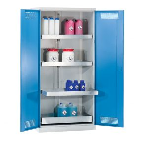 PremKraft Hazardous Substance Storage Cupboards with Pull Out Tray Shelves