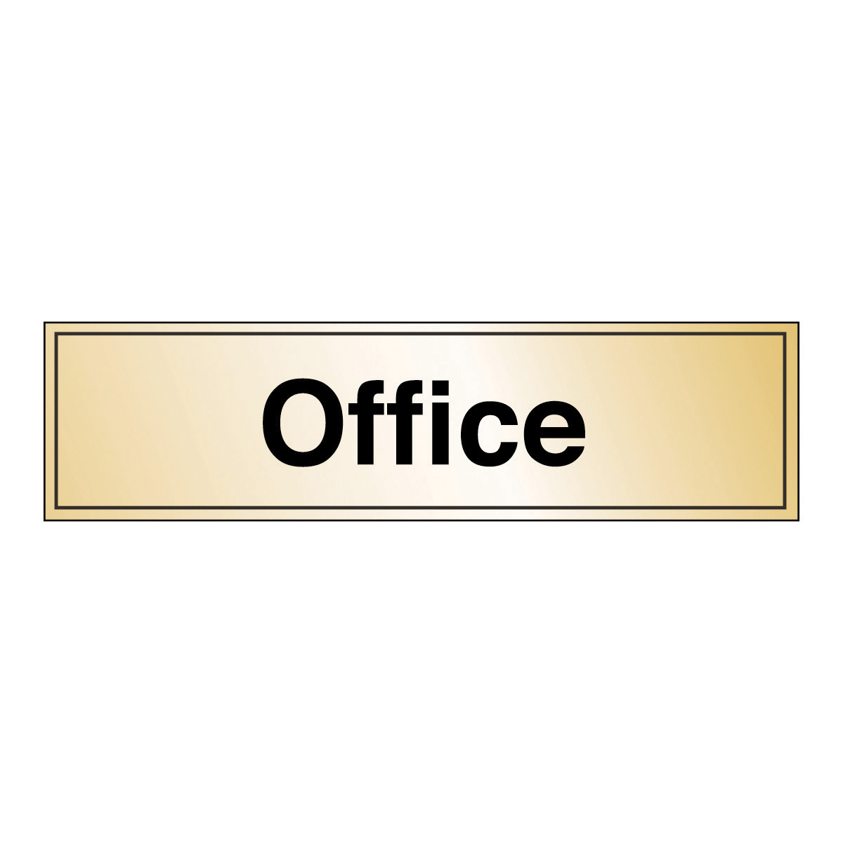 effect office safety sign gold silver effect sign from bigdug uk