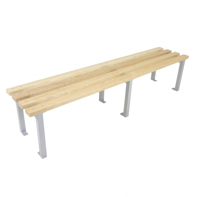 Silver 400mm Deep Changing Room Benches