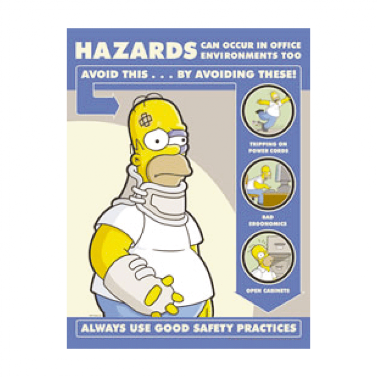 Simpsons Hazards In Office Environment Poster