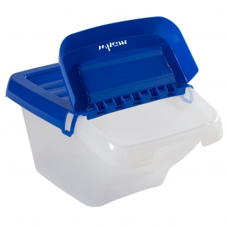 Stackable Storage & Recycling Bin With Hinged Lid