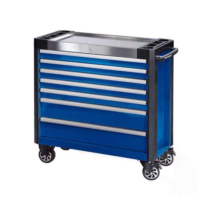 StanKraft Tool Trolley with Stainless Steel Worktop and 7 Drawers