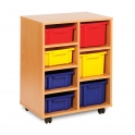 Strata 4 Shallow and 3 Deep Tray Wooden Units