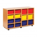 Strata 8 Shallow and 6 Deep Tray Wooden Units