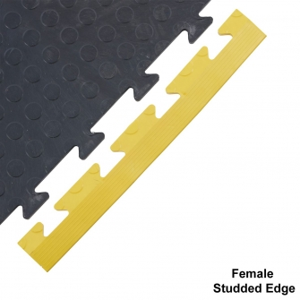 Studded Surface Ramped Edge Female 14h x 495w x 60d mm Yellow