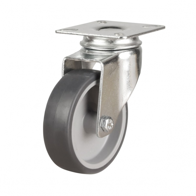 Top Plate 11 Series Castors With Synthetic Non-Marking Wheels