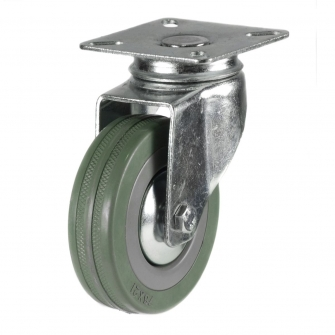 Top Plate 13 Series Castors With Grey Rubber Non-Marking Wheels