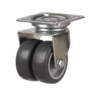 Top Plate 17 Series Castors With Twin Synthetic Non-Marking Wheels