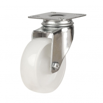 Top Plate 19 Series Castors With Light Duty Polypropylene Wheels