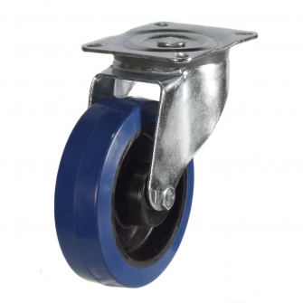 Top Plate 27 Series Castors With Blue Rubber Non-Marking Wheels