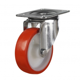 Top Plate 32 Series Castors With Polyurethane Wheels