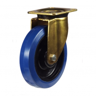 Top Plate 46 Series Castors With Blue Rubber Non-Marking Wheels