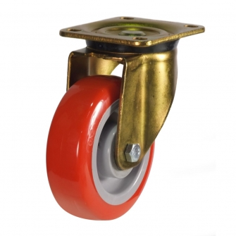 Top Plate 50 Series Castors With Polyurethane Wheels