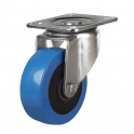 Top Plate 52 Series Castors With Blue Polyurethane Wheels