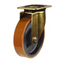 Top Plate 53 Series Castors With Polyurethane On Cast Iron Wheels