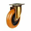Top Plate 54 Series Castors With Round Profile Polyurethane On Cast Iron Wheels