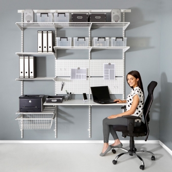 Top Track Wall Mounted Shelving White Components