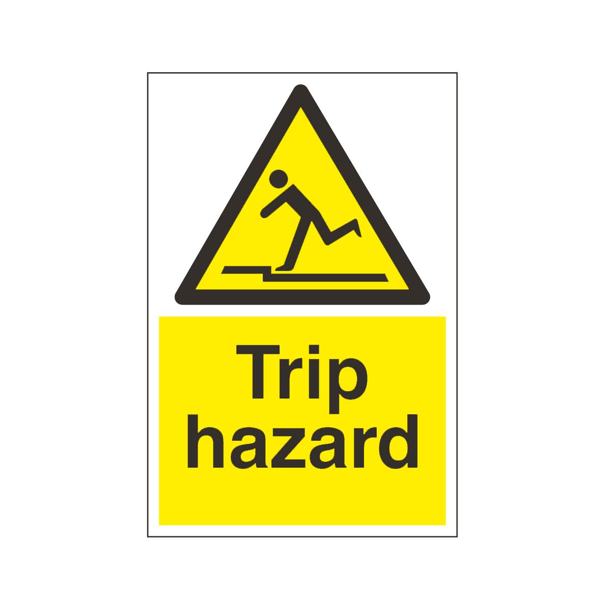 Trip hazard floor sign floor sign from bigdug uk for Floor banner