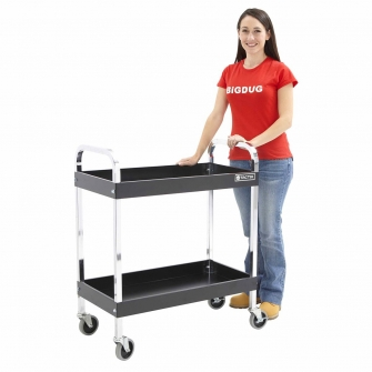 Trolley Service Cart With 2 Braked Castors