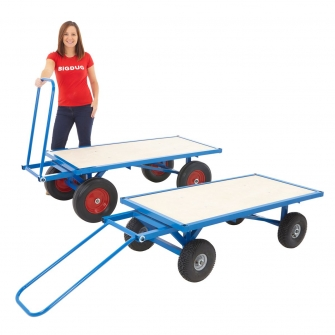 Turntable Platform Truck With Choice Of Wheels