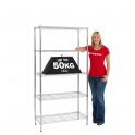 Value Chrome Shelving 910mm Wide