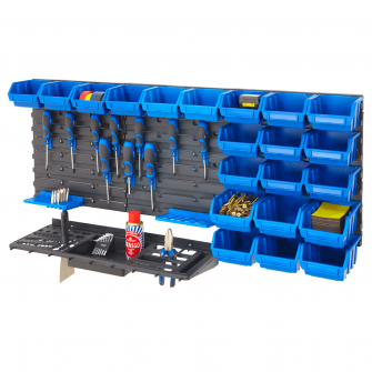 Wall Mounted Tool Rack & Parts Bins