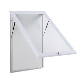 White Outdoor Notice Boards With Base Openings