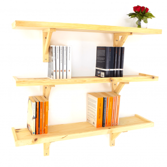 Wooden Ledge Shelf Kits