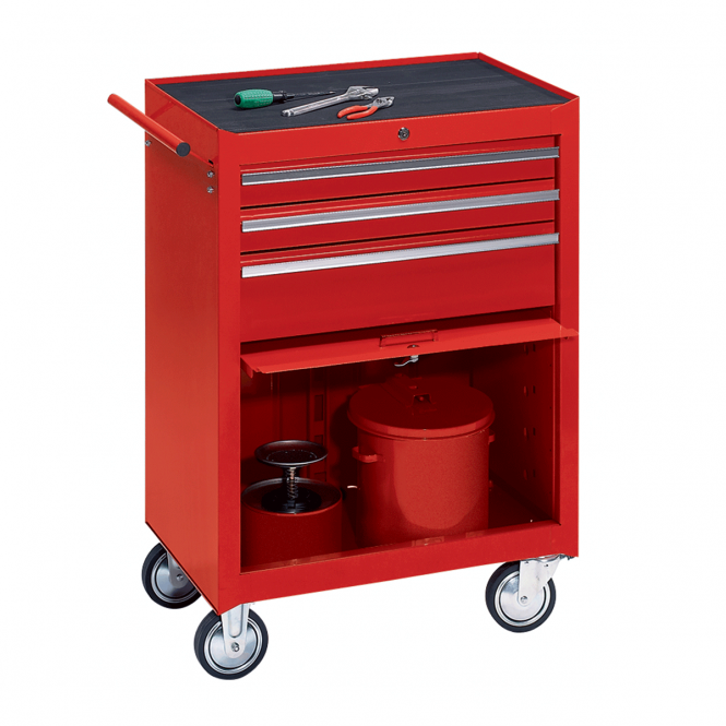 Workshop Tool Trolley with 3 Drawers and a Tool Compartment